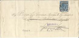 UM04-Stampa Con 2 Cent. Su 10 Umberto Valevole Per Stampe 23.3.1891 - Bella - 1878-00 Humberto I