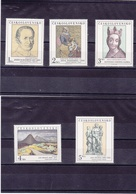 TCHECOSLOVAQUIE 1980 PEINTURES Yvert 2415-2419 NEUF** MNH - Tchécoslovaquie