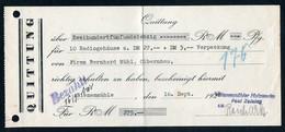 B4593 - Rechenberg Bienenmühle - Paul Zeising - Rechnung Quittung - Germany
