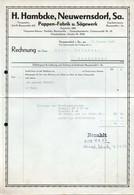 B4594 - Neuwernsdorf - H. Hambcke - Pappenfabrik Und Sägewerk - Rechnung Quittung 1947 - Germany