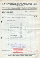 B4595 - Bienenmühle - Käte Vogel  -  Möbelfabrik - Rechnung Quittung 1938 - Germany