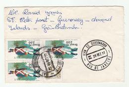 1977 BRAZIL COVER Multi UNIFORM Stamps To Guernsey GB - Brazilië