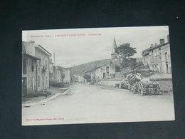 LAY SAINT CHRISTOPHE / ARDT NANCY     1910    /     RUE       ........ EDITEUR - Autres Communes