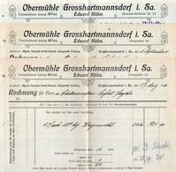 3521 - 3 X - Großhartmannsdorf Obermühle - Eduard Kühn - Rechnung Quittung 1920 - Germany