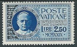 1931 VATICANO PACCHI POSTALI ESPRESSO 2,50 LIRE MH * - ED9-6 - Pacchi Postali