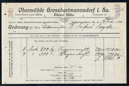 3520 - Großhartmannsdorf Obermühle - Eduard Kühn - Rechnung Quittung 1920 - Germany