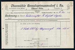 3507 - Großhartmannsdorf Obermühle - Eduard Kühn - Rechnung Quittung 1919 - Germany