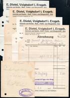 B4596 - Voigtsdorf - E. Dietel - Getreide Mehl Salz Futter Düngemittel - Rechnung Quittung 1940 - Germany