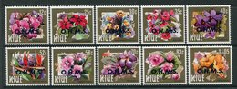 Niue 1985-87 Officilas - Flowers - OHMS Short Set To $1.05 MNH (SG 831-34) - Niue