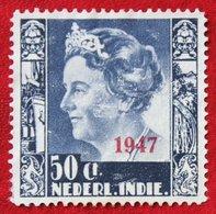 50 Ct Overprint Koningin Wilhelmina NVPH 329 1947 Ongebruikt / MH NEDERLAND INDIE / DUTCH INDIES - Netherlands Indies
