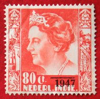 80 Ct Overprint Koningin Wilhelmina NVPH 330 1947 Ongebruikt / MH NEDERLAND INDIE / DUTCH INDIES - Netherlands Indies