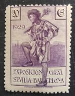 Exposition De Barcelone Et De Seville N° 372 - 1889-1931 Royaume: Alphonse XIII