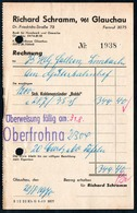B4601 - Glauchau - Richard Schramm  - Rechnung Quittung 1919 - Deutschland