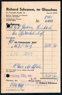 B4602 - Glauchau - Richard Schramm  - Rechnung Quittung 1969 - Deutschland