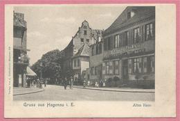 67 - GRUSS Aus  HAGENAU - HAGUENAU - Altes Haus - KAFFEE GALLAND - Brauerei Zum Tiger - Haguenau