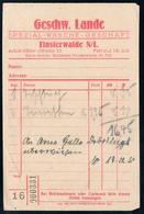 B4606 - Finsterwalde - Geschw. Lande - Rechnung Quittung - Germany