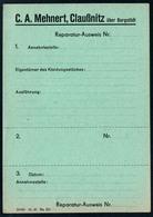 B4607 - Claußnitz über Burgstädt - C.A. Mehnert - Rechnung Quittung BLANKO - Germany