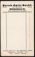 B4608 - Waldenburg - Bernhard Opitz - Kaffee Rösterei Tabak Wein Zigaretten Zigarren - Rechnung Quittung BLANKO - Germany