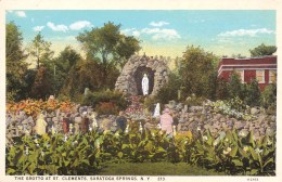 The Grotto At St. Clements, Saratoga Springs, New York, USA Vintage Unused - Saratoga Springs