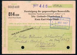 B4610 - Bauernhilfe Limbach Oberfrohna Kr. Karl Marx Stadt - Rechnung Quittung - Germany