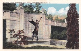 Spencer Trask Memorial, City Park, Saratoga Springs, New York, USA Vintage Unused - Saratoga Springs