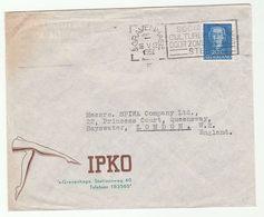 1951 NETHERLANDS IPKO STOCKINGS Ladies Legs ILLUS ADVERT COVER Stamps To GB  Hosiery - Period 1949-1980 (Juliana)