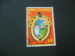 FRANCOBOLLO REPUBBLICA GUINEA EQUATORIALE MASCHERA AFRICANA - Guinea Equatoriale