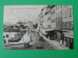 CP LA SEYNE SUR MER QUAI REGONFLE (83 VAR)CACHET 1906 BAGNOLS VAR DEVANTURE FABRIQUE MEUBLES PETIT PROVENCAL RESTAURANT - La Seyne-sur-Mer