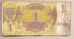 Lettonia - Banconota Circolata Da 1 Rublo P-35 - 1992 - Lettonie