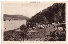 Scoutisme En Auvergne - Campement De Scouts Au Bord Du Lac Chambon - Scoutisme