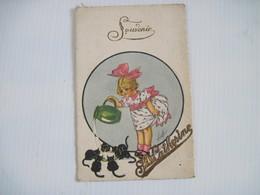 CPA Souvenir Ste Catherine (métal) T.B.E. Petite Fille Versant Du Lait A Des Chatons Signée Luby Ou Luly - Illustratoren & Fotografen