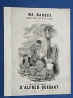 MARINE PIANO GF PARTITION XIX MA BARQUE NOTRE DAME DE DÉLIVRANDE ALFRED QUIDANT GUÉRIN 1854 ILL NANTEUIL DOUVRES - Autres