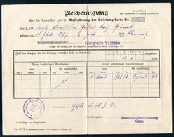 3470 - Gesau Glauchau - Quittungskarte Quittung - Landesversicherungsanstalt Sachsen - Versicherung Stempel 1913 - Germany