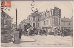 MONTARGIS (45) : LE PONT - LA SOCIETE GENERALE - UNE DILIGENCE - ECRITE EN 1910 - 2 SCANS - Montargis