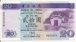 MACAO 20 PATACAS 1996 UNC P 91 - Macao
