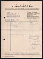 B4615 - Thale - Hentschel & Co - Bedarfsartikel - Rechnung Quittung 1957 - Germany