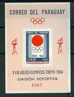 Olympics 1964 - History - PARAGUAY - S/S Imperf. MNH - Summer 1964: Tokyo