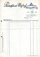 B4616 - Metzdorf Hohenfichte - Herbert Schwarz Parkettfabrik - Rechnung Quittung BLANKO - Germany