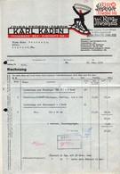 B4617 - Mühlbach Bez. Chemnitz - Karl Kaden - Spiralfedern Fabrik - Rechnung Quittung 1938 - Messe Leipzig - Germany