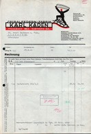 B4618 - Mühlbach Bez. Chemnitz - Karl Kaden - Spiralfedern Fabrik - Rechnung Quittung 1940 - Germany