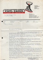 B4620 - Mühlbach Bez. Chemnitz - Karl Kaden - Spiralfedern Fabrik - Rechnung Quittung 1940 - Deutschland