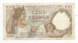 Billet , Cent Francs ,100 , 5-10-1939 , 2 Scans, Frais Fr 1.45 E - 1871-1952 Gedurende De XXste In Omloop