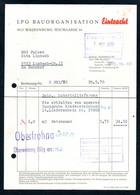 B4621 - Waldenburg Limbach - LPG Bauorganisation Eintracht - Rechnung Quittung 1970 - Deutschland