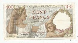 Billet , Cent Francs ,100 , 8-8-1940 , 2 Scans, Frais Fr 1.45 E - 1871-1952 Gedurende De XXste In Omloop