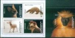 HD3101 Saint Vincent The Grenadines 2017 Animals - Cats Sheep Monkey Pangolin M+Ms - Stamps
