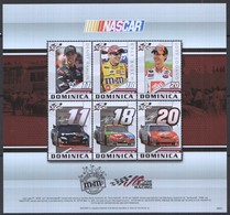 D571 2009 DOMINICA TRANSPORTATION CARS NASCAR 1KB MNH - Autos