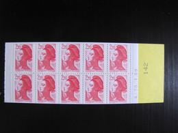 Rare Carnet LIBERTE DELACROIX N° 2427-C2b **  - Numéro > à 100 Daté Du 30.1.89 - Carnets