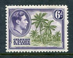 Gilbert And Ellice Islands 1939-55 KGVI Pictorials - 6d Coconut Palms HM (SG 50) - Gilbert & Ellice Islands (...-1979)
