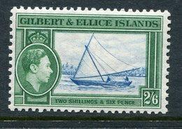 Gilbert And Ellice Islands 1939-55 KGVI Pictorials - 2/6 Gilbert Islands Canoe HM (SG 53) - Gilbert & Ellice Islands (...-1979)