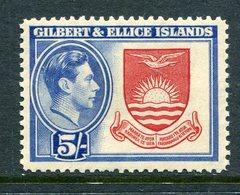Gilbert And Ellice Islands 1939-55 KGVI Pictorials - 5/- Coat Of Arms HM (SG 54) - Gilbert & Ellice Islands (...-1979)